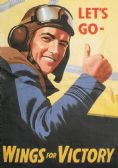 WING'S FOR VICTORY POSTCARD